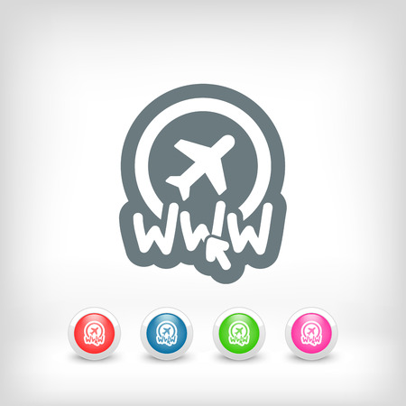 Website travel agency icon Vector