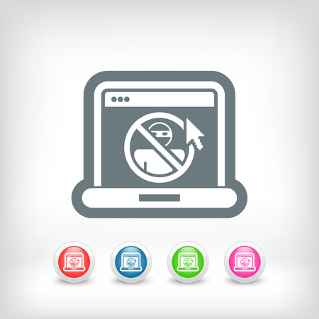 Web access data protection Vector