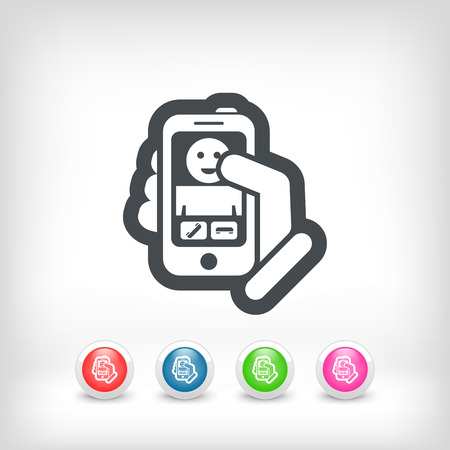 touck: Incoming call icon Illustration