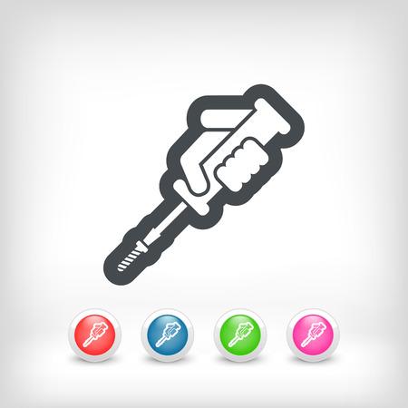 screwed: Screwdriver icon Illustration