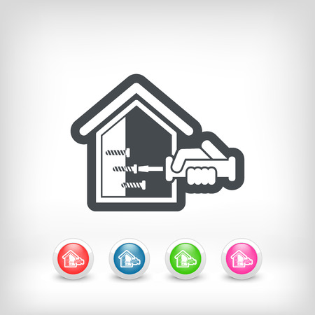 screwing: Home repair icon Illustration
