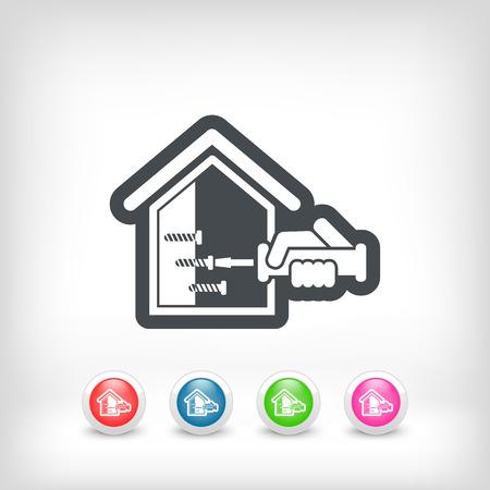 empleada domestica: Icono de reparación Inicio Vectores
