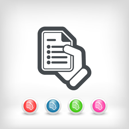 doctor holding gift: Document concept