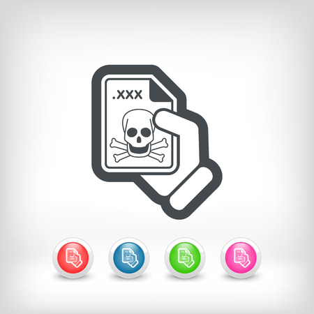 Infected file icon Stock Vector - 28211774