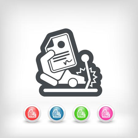 insurer: Car crash insurance Illustration