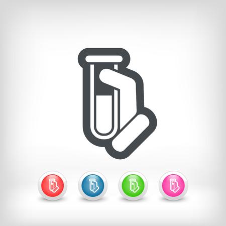 Test tube icon Stock Vector - 28212115