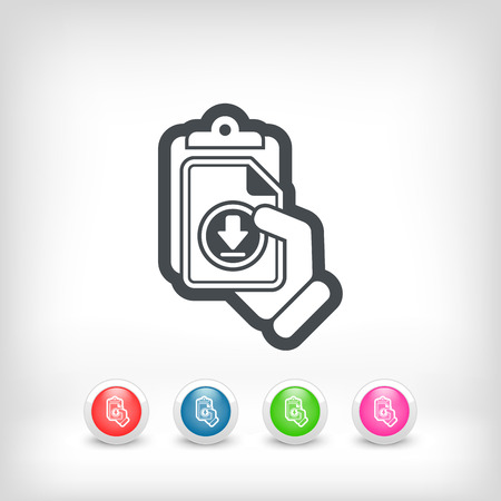 Download link icon Vector