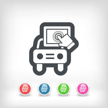 Touchscreen car device Illustration