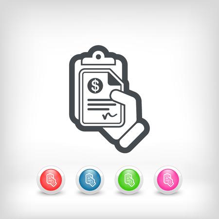 payable: Documento dinero icono