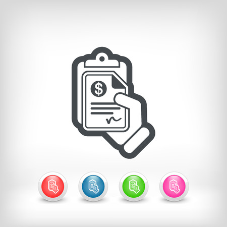 Money document icon Vector