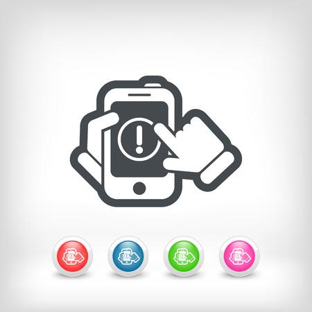 Alert mobile device Stock Vector - 28212780