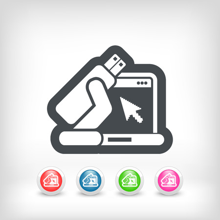 Usb computer icon Vector