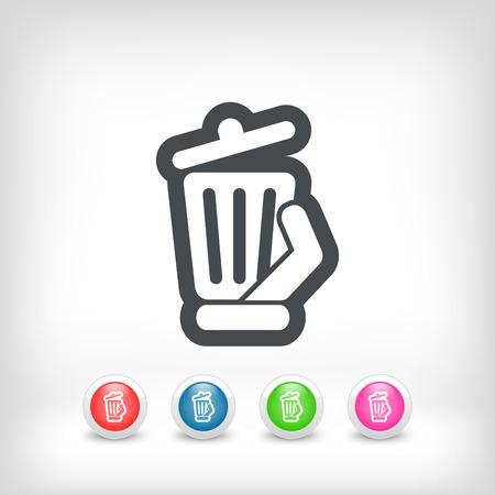 wastebasket: Trash can icon