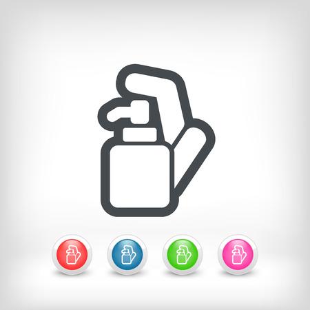 skin infections: Soap dispenser Illustration