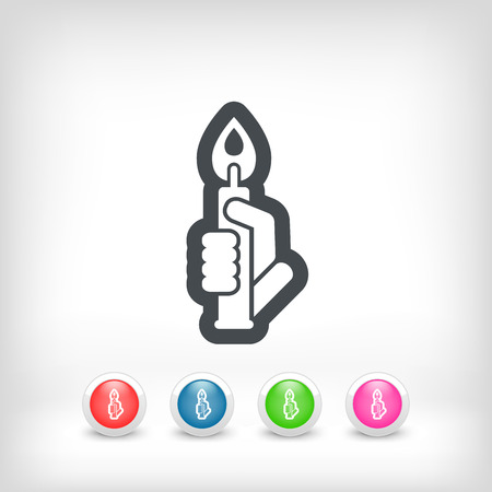 luminary: Candle icon Illustration
