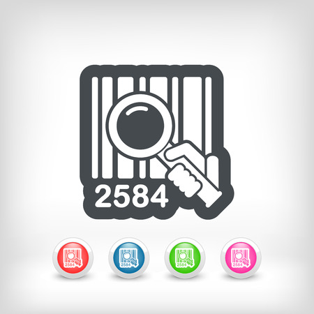Barcode search Stock Vector - 28214310