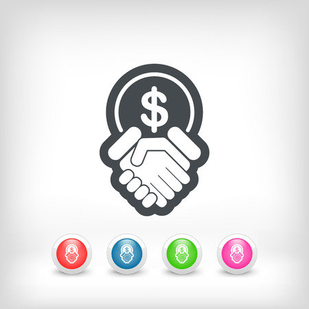 pawn shop: Financial agreement icon