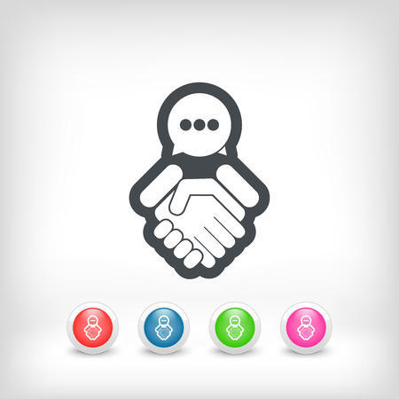 Dialogue to reach an agreement Vector