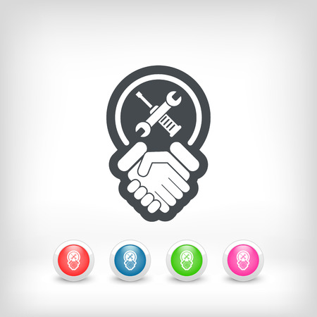 syndicate: Worker handshake icon