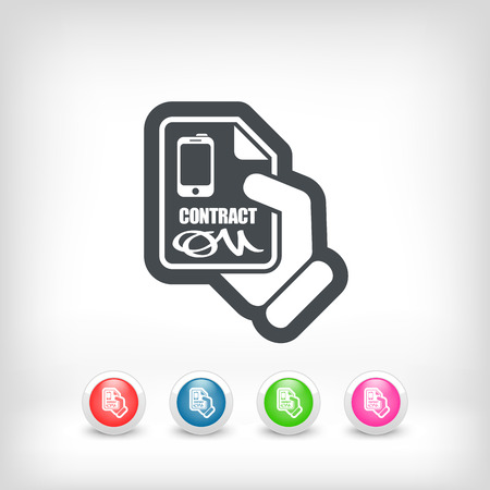 notarized: Smartphone contract icon