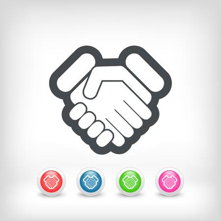 goodbye: Handshake icon Illustration