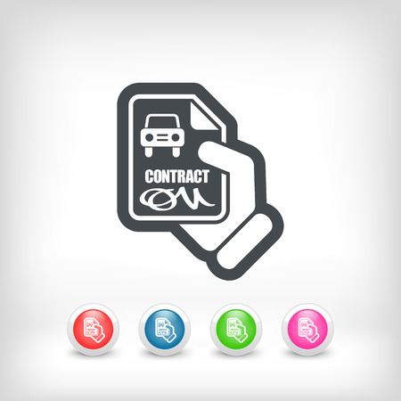 Car contract icon Vector