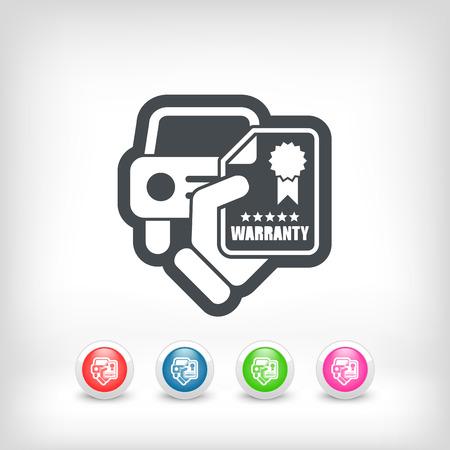 Car warranty icon Vector