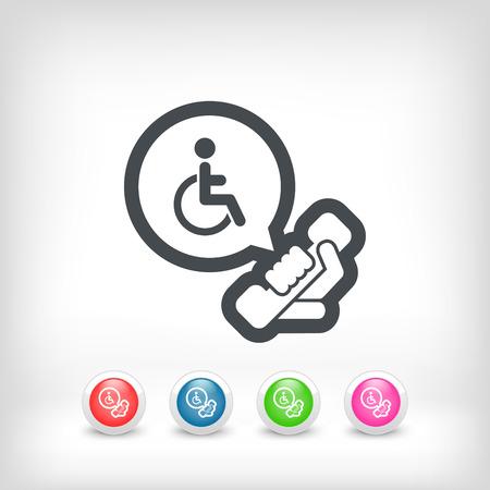 핸디캡: 장애인 지원 선 일러스트