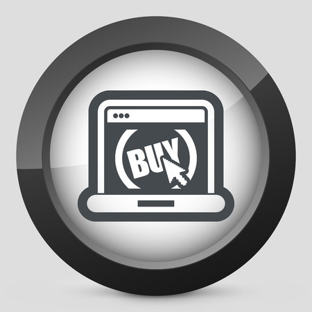 buy button: Buy button on website Illustration