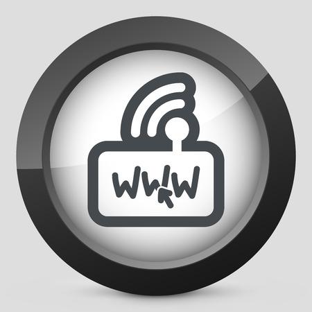 modem: Internet modem icon Illustration