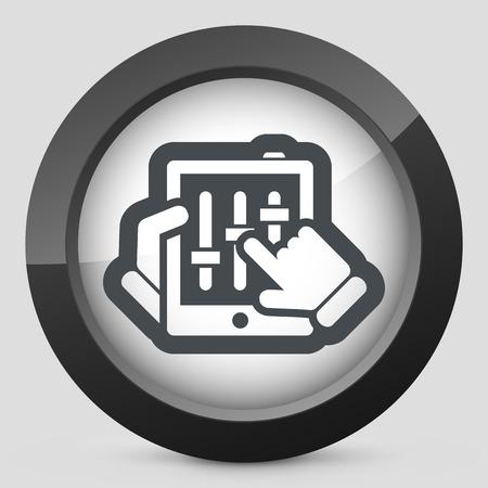 dee jay: Touchscreen mixer icon
