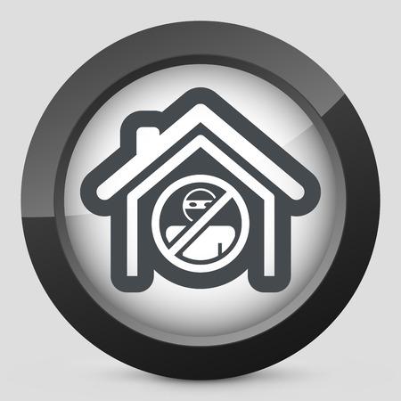 burglary: House protection icon Illustration