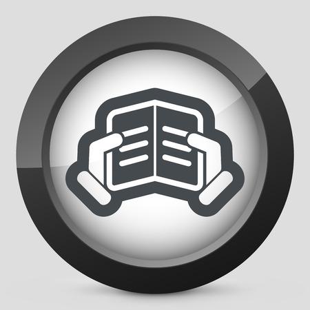 athenaeum: Text reading icon
