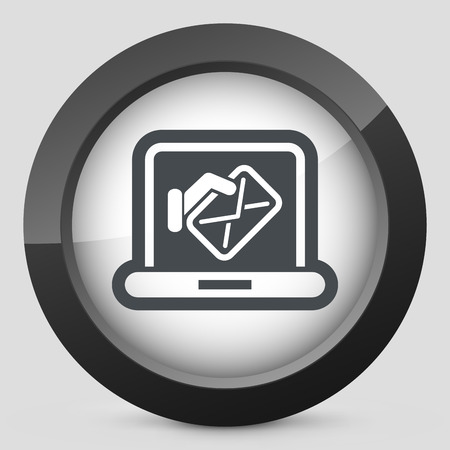 Computer mail icon Vector