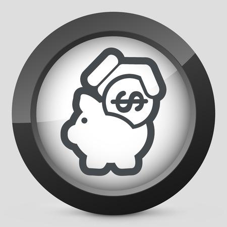 Business coin icon Stock Vector - 28217162