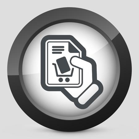 checkout button: Cart store icon