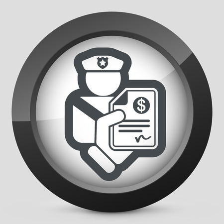 Policeman fine icon Vector