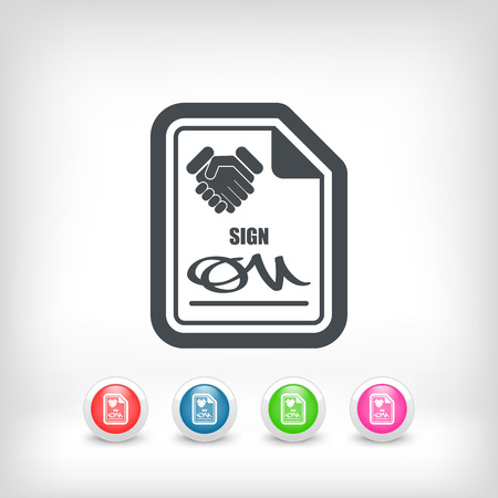 Sign on agreement document Stock Vector - 28217663