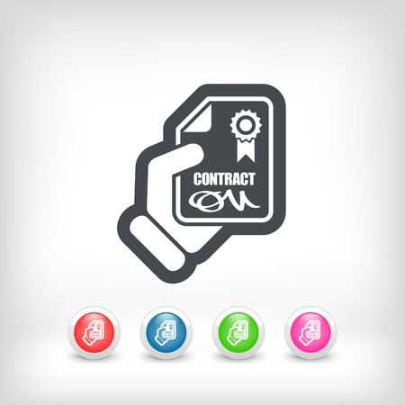 Contract icon Stock Vector - 28217684
