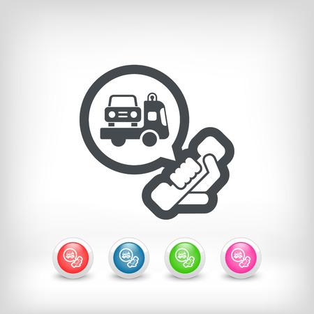 wrecker: Wrecker call icon Illustration