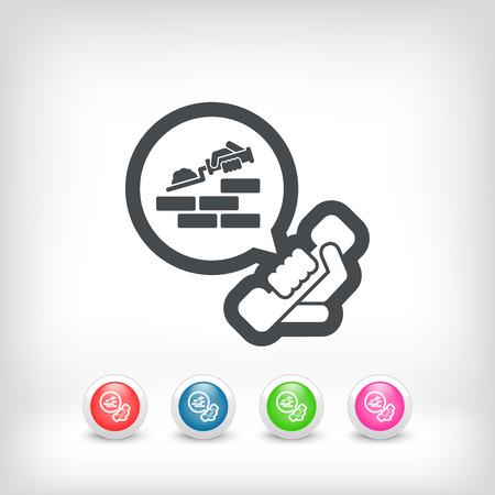 Building company contact icon Vector