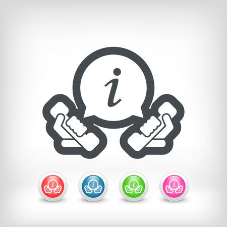 Infoline icon Vector