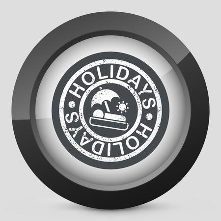 loungers: Holidays summer stamp grunge