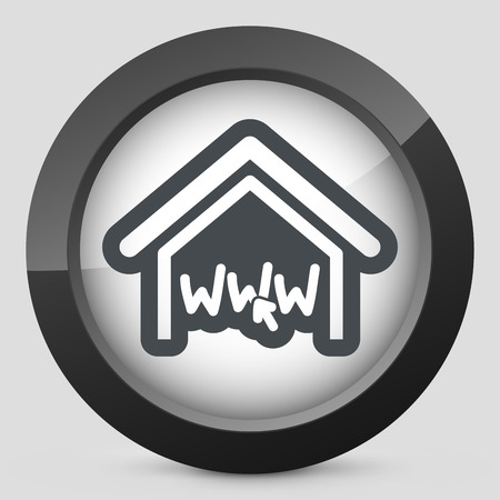 homepage: Real estate website symbol Illustration