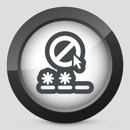 accessing: Password access concept  Illustration