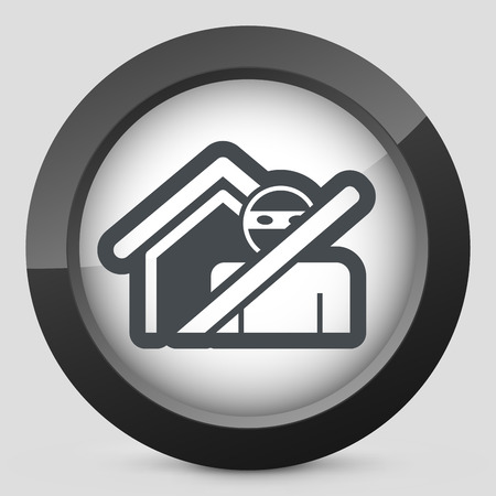 Thief security icon Vector