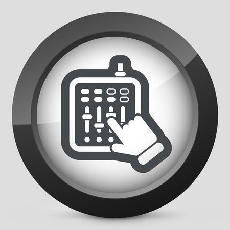 dee jay: Mixer audio icon