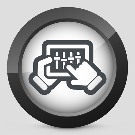 Touchscreen mixer icon Vector