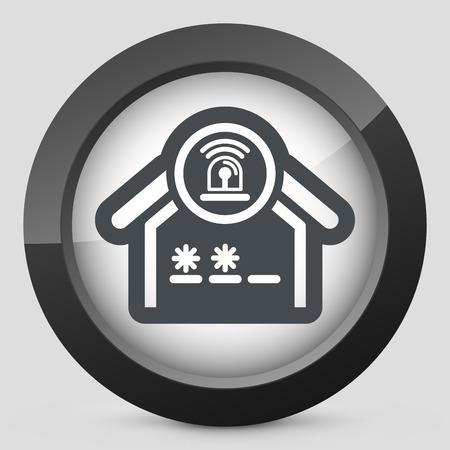 burglary: House alarm icon