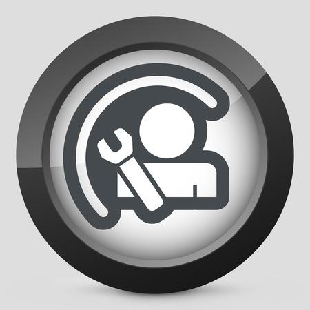 Worker concept symbol Stock Vector - 28218210